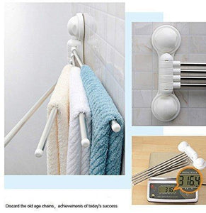 Top towel rack arricastle 4 bar towel rack with suction cup stainless steel swing towel rack hanger holder organize for bathroom and kitchen towel rack
