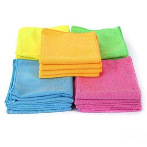 Organize with microfiber cleaning cloth hijina pack of 20 size 12 x12 for cleaning tasks in the kitchen bathroom dining room and more plain 5 colors x 4
