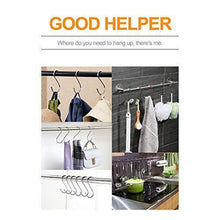 Load image into Gallery viewer, Discover 30 pack large s shaped hanging hooks s hangers for kitchen office bathroom cloakroom and garden heavy duty s hooks by krendr