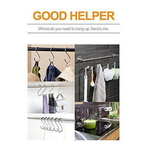 Discover 30 pack large s shaped hanging hooks s hangers for kitchen office bathroom cloakroom and garden heavy duty s hooks by krendr