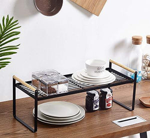 Buy kitchen cabinet and counter shelf organizer storage black