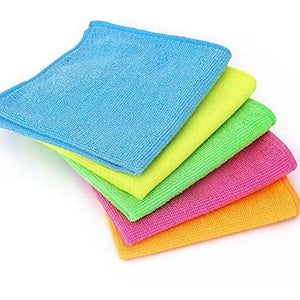 Products microfiber cleaning cloth hijina pack of 20 size 12 x12 for cleaning tasks in the kitchen bathroom dining room and more plain 5 colors x 4