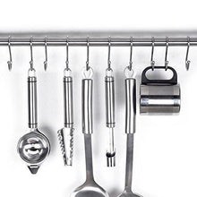 Load image into Gallery viewer, New yumore s hook pro chef kitchen tools stainless steel double s hooks set kitchen spoon pan pot holder rack heavy duty s hook for door shelf storage organizer bathroom bedroom and office pack of 5