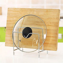 Load image into Gallery viewer, Try best quality other utensils layers stainless steel pan pot lid shelf kitchen cooking tools storage pan rack dish chopping block cover stand holder by rubyshop 1 pcs