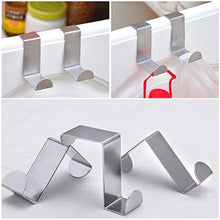 Load image into Gallery viewer, Budget foccts 6pcs over the door hooks z shaped reversible sturdy hanging hooks saving organizer for kitchen bedroom cabinet drawer
