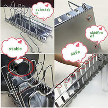 Load image into Gallery viewer, Order now adjustable rack pot lid pan shelf dish drainer shelves multifunctional organizers for the kitchen large with 7 holders