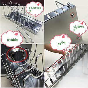 Order now adjustable rack pot lid pan shelf dish drainer shelves multifunctional organizers for the kitchen large with 7 holders