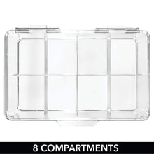 Load image into Gallery viewer, Home mdesign stackable plastic tea bag holder storage bin box for kitchen cabinets countertops pantry organizer holds beverage bags cups pods packets condiment accessories clear