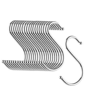 Featured betrome 20 pack 3 3 s hooks heavy duty s shaped hooks s shape hangers for kitchen bathroom bedroom and office