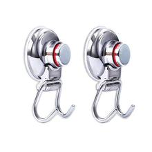 Load image into Gallery viewer, Save on powerful vacuum suction hooks mocy strong stainless steel suction cup hooks for bathroom kitchen wall home removable shower hools hanger damage free for towel bath robe coat and loofah pack of