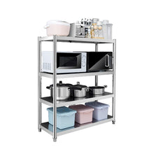 Load image into Gallery viewer, Cheap kitchen shelf stainless steel microwave oven rack multi function kitchen cabinet and cabinet rack storage rack 6 sizes kitchen storage racks size 10040118cm