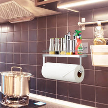 Load image into Gallery viewer, Save odesign 2 in 1 paper towel holder with shelf for kitchen shower bathroom sus 304 stainless steel no drilling