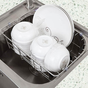 Discover the ccf stainless steel sink drain dish rack retractable dish rack kitchen pool storage hanging dish rack sink rack ccfv