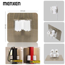 Load image into Gallery viewer, Discover the best menxen broom mop holder broom gripper holds self adhesive reusable no drilling super anti slip wall mounted storage rack storage organization for your home kitchen and wardrobe 8 pack