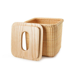 Cheap tengtian nantucket basket extraction paper basket tissue boxtoilet paper storage containers paper towel holders woven rattan handwoven square rattan tissue box cover office kitchen bath livingoak