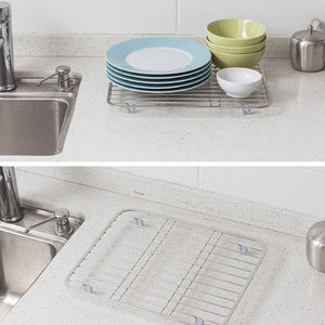Shop kitchen cutlery storage rack household 304 stainless steel tray rack sink dishes fruit and vegetable drain rack