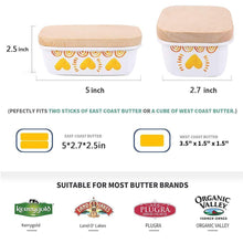 Load image into Gallery viewer, Explore shineme butter dish with wooden lid enamel butter keeper butter container cheese storage holder used for kitchen counter or fridge white