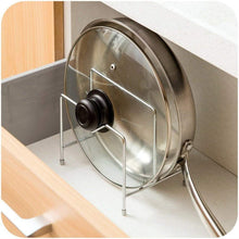 Load image into Gallery viewer, Shop stainless steel pot rack kitchen chopping board lid pot pan storage shelf drain tableware shelves cooking tools holder