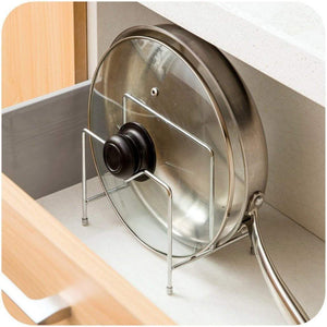 Shop stainless steel pot rack kitchen chopping board lid pot pan storage shelf drain tableware shelves cooking tools holder