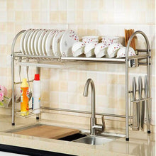 Load image into Gallery viewer, Purchase kitchen racks dish rack stainless steel drain rack sink dish rack storage rack put dish rack chopsticks rack knife rack cutting board chopsticks tube