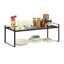 Load image into Gallery viewer, Budget friendly kitchen cabinet and counter shelf organizer storage black