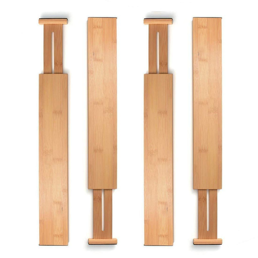 Discover unuber bamboo kitchen drawer dividers drawer organizers expandable drawer dividers separators organizers for in kitchen dresser bathroom bedroom desk baby drawer