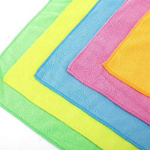 Load image into Gallery viewer, Related microfiber cleaning cloth hijina pack of 20 size 12 x12 for cleaning tasks in the kitchen bathroom dining room and more plain 5 colors x 4