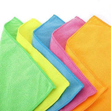Load image into Gallery viewer, Purchase microfiber cleaning cloth hijina pack of 20 size 12 x12 for cleaning tasks in the kitchen bathroom dining room and more plain 5 colors x 4