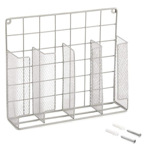 Shop here ezoware silver finish wall door mount kitchen wrap organizer silver rack for food storage bags aluminum foil wax paper sandwich bags plastic wrap
