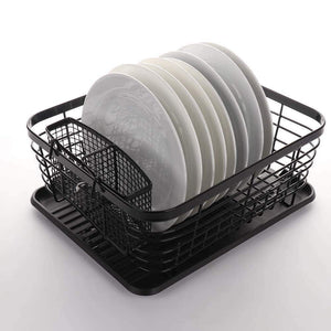 Explore asdomo dish drying rack stainless steel dishes drainer with detachable drainboard rustproof organizer utensils holder for kitchen counter