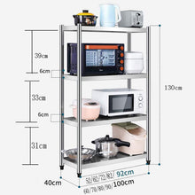 Load image into Gallery viewer, Buy now kitchen shelf stainless steel microwave oven rack multi function kitchen cabinet and cabinet rack storage rack 5 sizes kitchen storage racks size 10040130cm