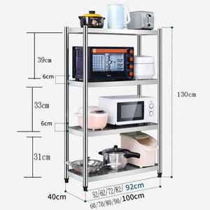 Buy now kitchen shelf stainless steel microwave oven rack multi function kitchen cabinet and cabinet rack storage rack 5 sizes kitchen storage racks size 10040130cm