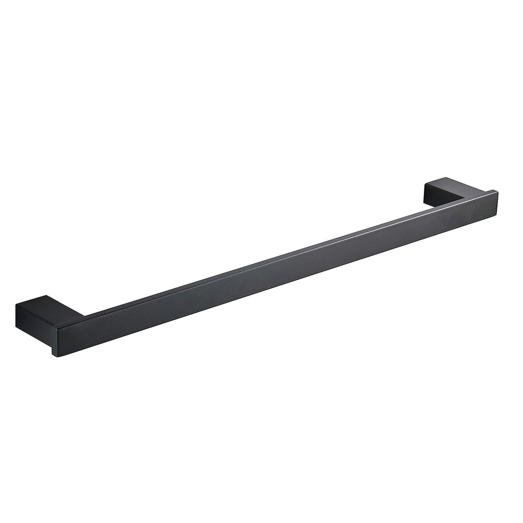 Top rated koolift single towel bar rack bathroom towel hanger shower rail hand towel holder heavy duty kitchen space saving shelf hanging rod storage stainless steel matte black wall mount