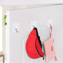 Load image into Gallery viewer, Products adhesive hooks key hooks coat hooks heavy duty wall hooks stainless steel waterproof wall hangers for robe coat towel keys bags home kitchen bathroom 16 pack