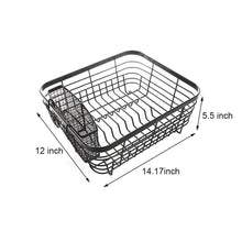 Load image into Gallery viewer, Discover the best asdomo dish drying rack stainless steel dishes drainer with detachable drainboard rustproof organizer utensils holder for kitchen counter