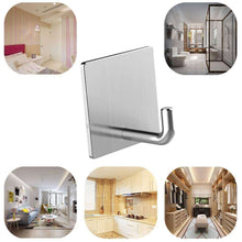 Load image into Gallery viewer, Budget friendly usbnovel towel hooks bathroom hook self adhesive hooks office hooks hanging keys for kitchen stick on wall stainless steel 4 packs