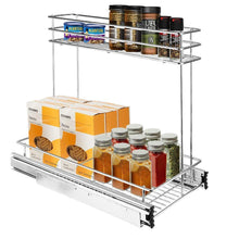 Load image into Gallery viewer, Featured secura pull out cabinet organizer professional kitchen and bathroom sink cabinet organizer with 2 tier sliding out shelves