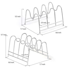 Load image into Gallery viewer, Buy nex 2 pack kitchen cabinet pan and pot lid organizer rack holder
