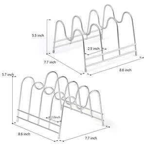Selection nex 2 pack kitchen cabinet pan and pot lid organizer rack holder 1