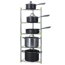 Load image into Gallery viewer, Online shopping uheng 5 tier adjustable kitchen cabinet pantry pan and pot lid organizer rack holder houseware cookware holders storage stainless steel dia 13 7 x h 38 5