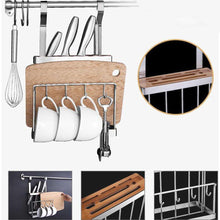 Load image into Gallery viewer, Home 304 stainless steel kitchen shelves wall hanging turret 3 layer spice jars organizer foldable dish drying rack kitchen utensils holder
