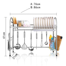 Load image into Gallery viewer, Online shopping kitchen racks dish rack stainless steel drain rack sink dish rack storage rack put dish rack chopsticks rack knife rack cutting board chopsticks tube