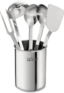 Buy now all clad tset1 stainless steel kitchen tool set caddy included 6 piece silver