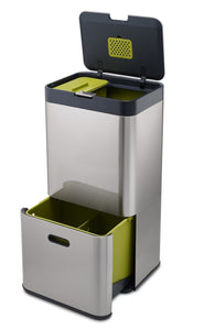 Latest joseph joseph 30022 intelligent waste totem kitchen trash can and recycle bin unit with compost bin 16 gallon 60 liter stainless steel