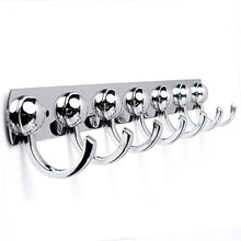 Load image into Gallery viewer, Order now kingso utility hooks kitchen stainless holder rack coat towel hat bathroom wall hanger 7 hooks