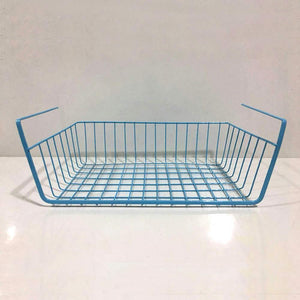 Storage organizer esupport under shelf storage basket hanging under cabinet wire basket organizer rack dormitory bedside corner shelves for kitchen pantry desk bookshelf cupboard