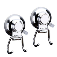 Load image into Gallery viewer, Discover the best bathroom hook towel hooks bathroom hook with suction cup hook holder removable shower kitchen hooks hanger stainless steel heavy duty wall hooks for towel robe home kitchen bathroom 2 pack