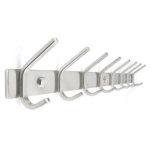 Best coat rack hooks durable stainless steel organizer rack with solid steel construction perfect for towels robes clothes for bathroom kitchen garage 8 hooks