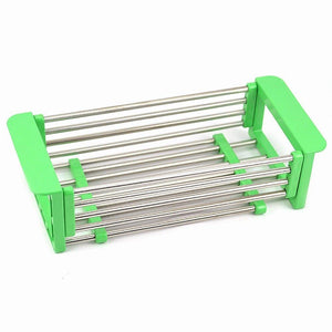 Purchase yan junau kitchen racks stainless steel retractable sink drain rack dish rack kitchen supplies color green