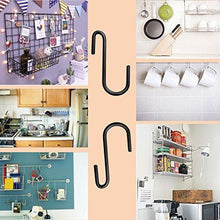 Load image into Gallery viewer, Shop 30 pack esfun heavy duty s hooks black s shaped hooks hanging hangers pan pot holder rack hooks for kitchenware spoons pans pots utensils clothes bags towels plants